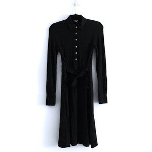 J.Crew Black Collard Long Sleeve Dress